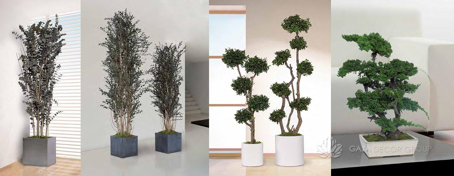 Artificial trees for interior design gaja decor group for Artificial plants for interior decoration