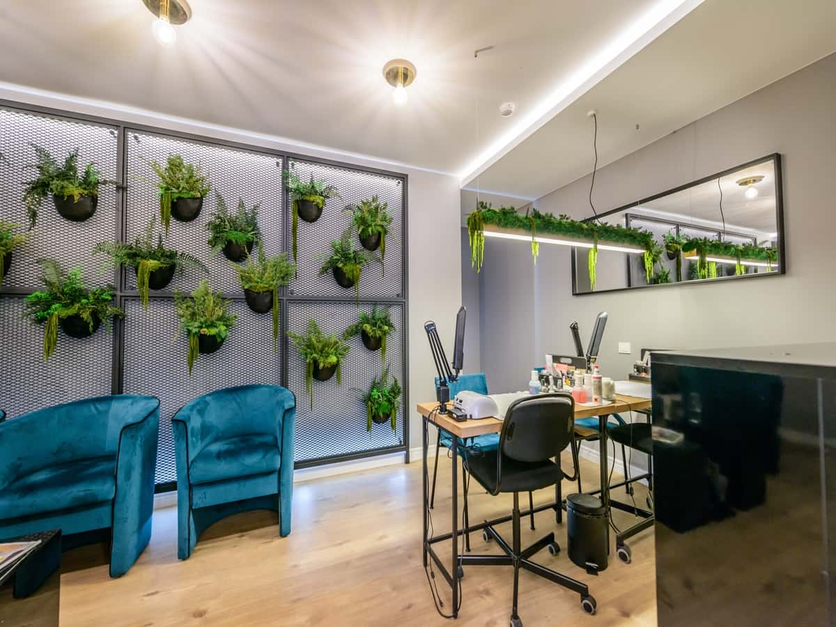 Stabilized plants on wall design