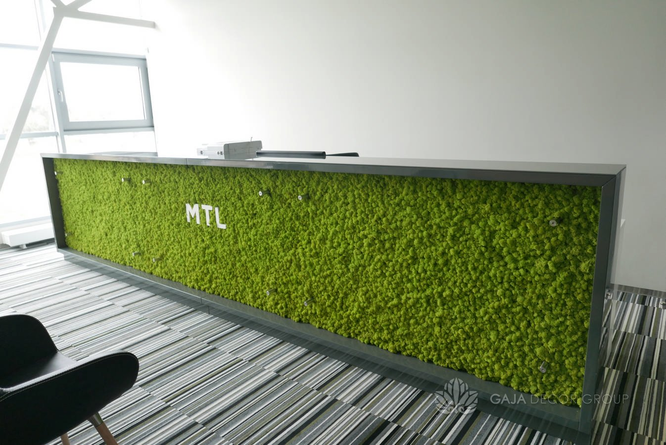 Grass Wall Interior Decor