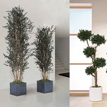 Artificial trees for interior design